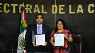 La SEPI y el Tribunal Electoral de la Ciudad de México firman convenio por la participación político-electoral de pueblos, Barrios y comunidades